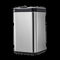 Сенсорное мусорное ведро JAH 25 л квадратное металлик без внутреннего ведра, фото 2