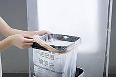 Ведро для мусора с педалью JAH 15 л металлик без внутреннего ведра, фото 2