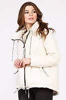 Женская демисезонная куртка-трапеция с воротником-стойкой