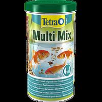 Tetra POND MULTI MIX   1L  пищ. смесь (хлопья, гранулы, табл. гаммаруса)