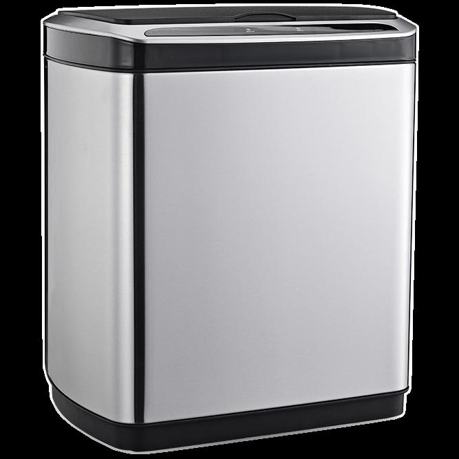 Сенсорное мусорное ведро JAH 30 л прямоугольное металлик без внутреннего ведра