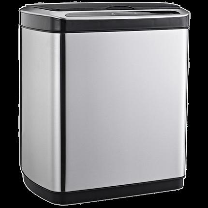 Сенсорное мусорное ведро JAH 30 л прямоугольное металлик без внутреннего ведра, фото 2