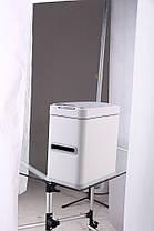 Сенсорное мусорное ведро JAH 7 л прямоугольное белое с внутренним ведром, фото 3