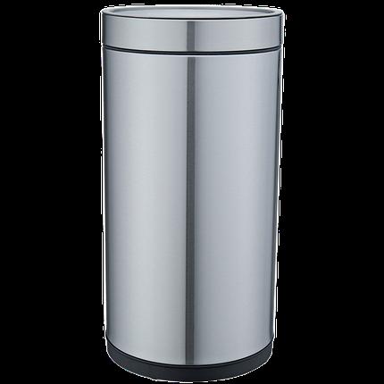 Ведро для мусора JAH 25 л круглое металлик без крышки и внутреннего ведра, фото 2