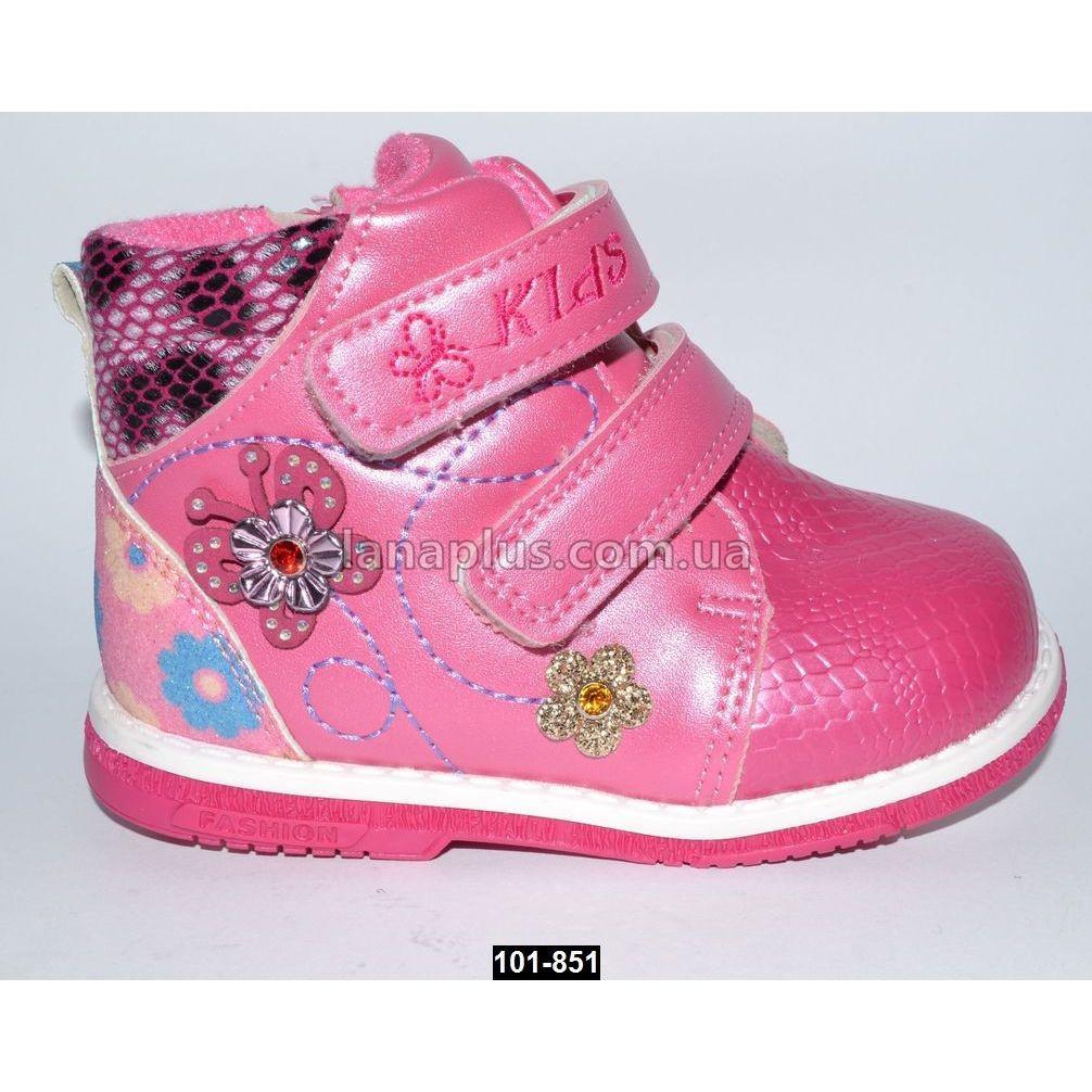 Демисезонные ботинки для девочки, 24 размер (14 см), каблук Томаса