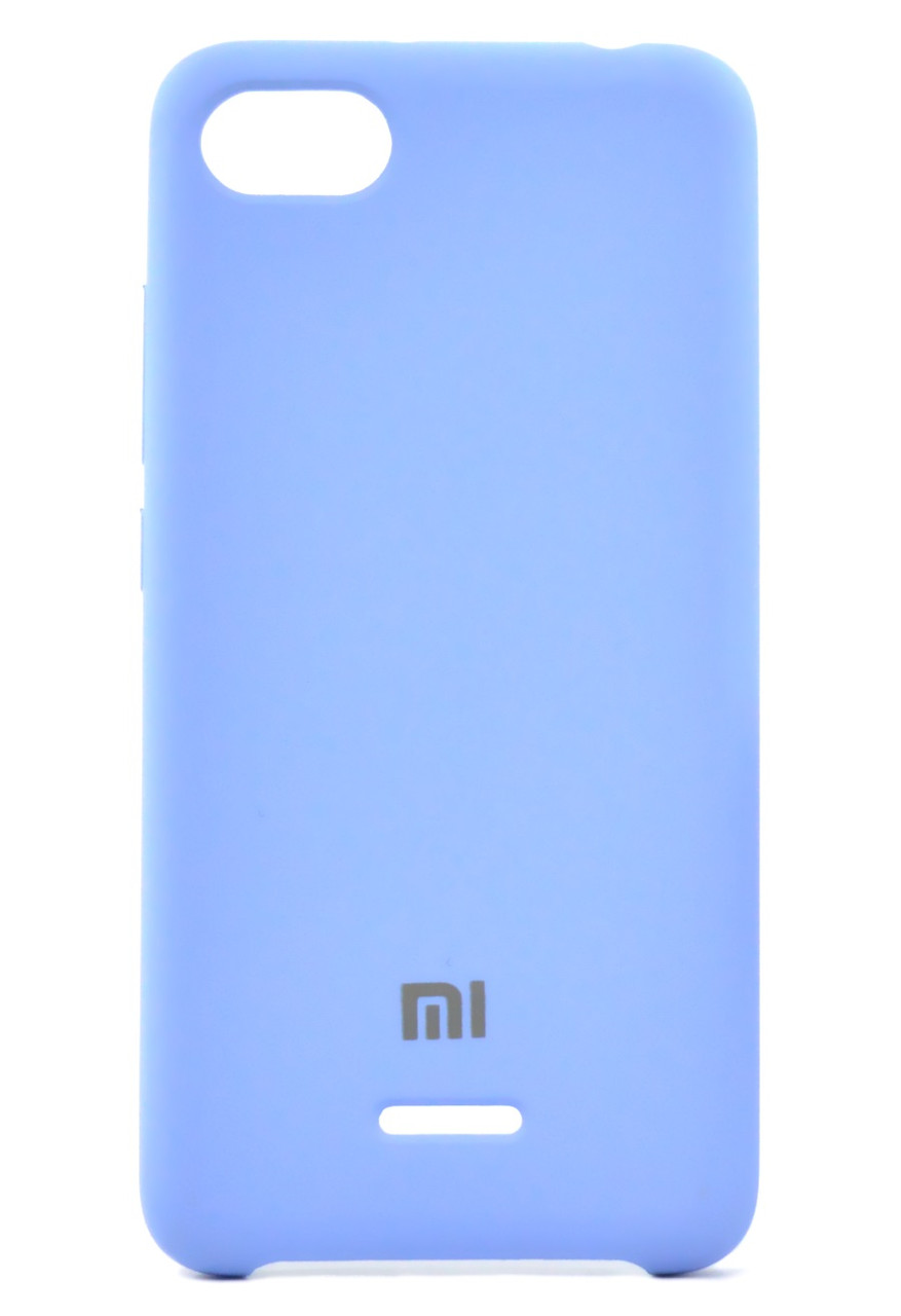 Чехол накладка для Xiaomi Redmi 6A Silicone Cover Голубой