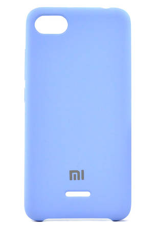 Чехол накладка для Xiaomi Redmi 6A Silicone Cover Голубой, фото 2