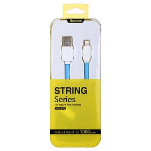 Кабель Baseus CAAPIH6-ND32 USB-Lightning String ser. 100см Голубой / белый, фото 2