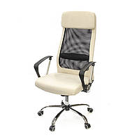 Кресло офисное на колесиках Гилмор FXСН TILT из ткани бежевого цвета