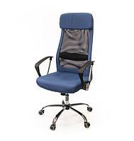 Кресло офисное на колесиках Гилмор FXСН TILT из ткани синего цвета