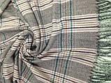 Серый женский палантин в  клетку 188 х 70 см, фото 2
