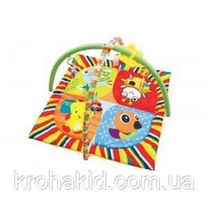 Детский развивающий коврик 898-307B/308В с дугами и подвесками, в сумке, фото 2