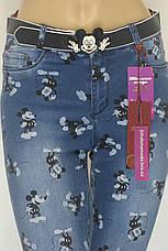 Жіночі джинси з принтом Міккі Маус, фото 2