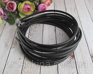 Обручи для волос с зубчиками каучук  ширина 0,5 см черные 12 шт/уп