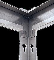 180х180х70, Стеллаж 4 полки ДСП/МДФ 400 кг на полку полочный оцинкованный металлический на склад гараж подвал, фото 5