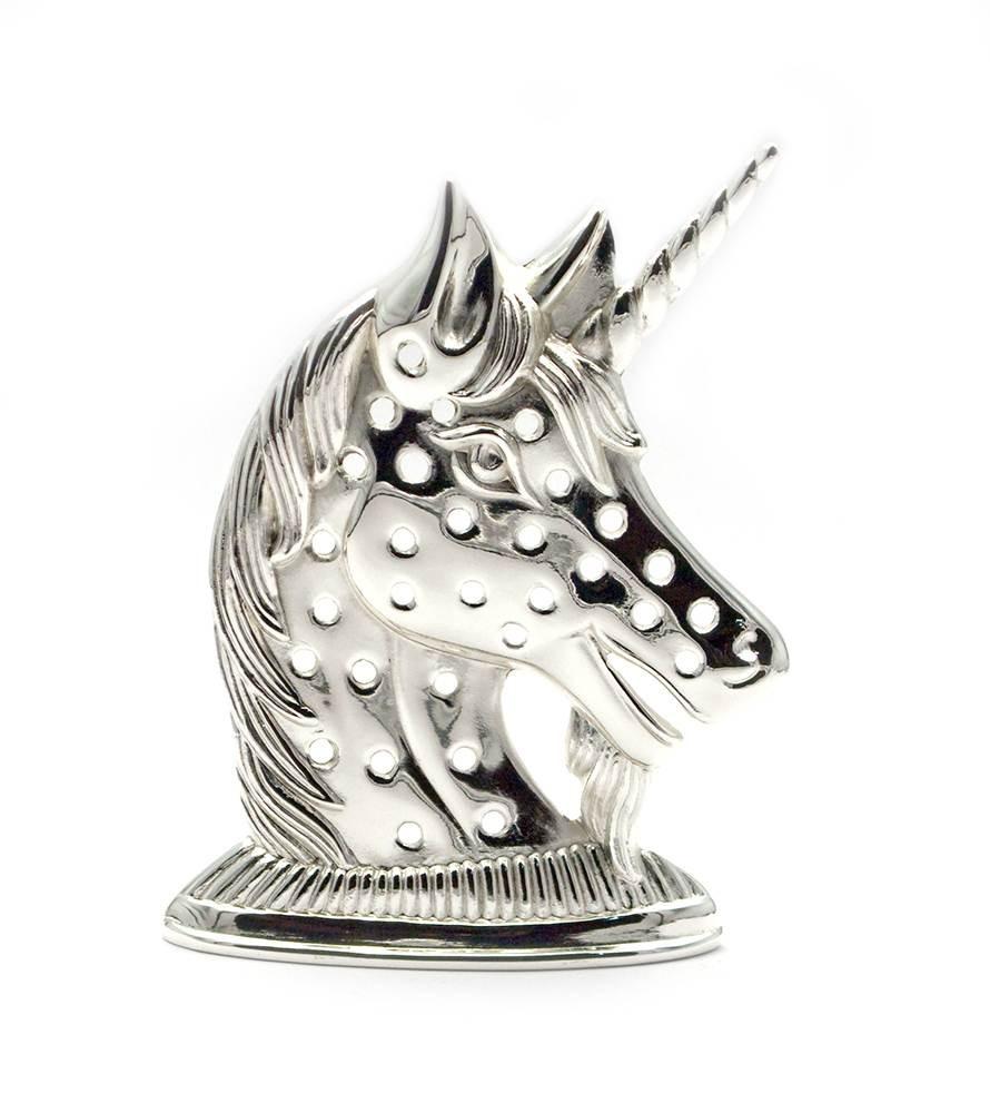 """Подставка под кольца """"единорог"""" (12х8,5х3 см)(2582)""""серебро"""""""