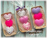 """Набор  мыла """"3 цветочных сердца"""", фото 1"""