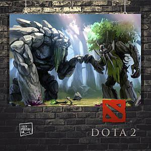 Постер DOTA, весёлые деревья. Размер 60x42см (A2). Глянцевая бумага