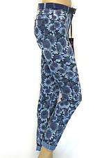 Жіночі джинси з квітковим принтом, фото 3