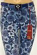 Жіночі джинси з квітковим принтом, фото 2