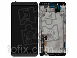 Дисплейный модуль (экран и сенсор) для HTC One Max 803n, с рамкой, без вставок цвета, оригинал