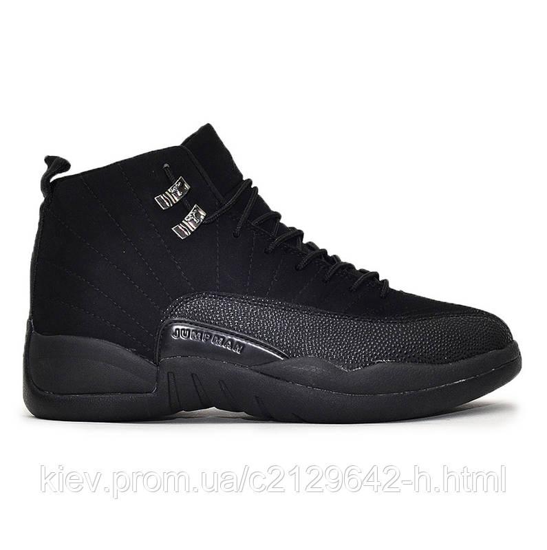 Кроссовки Nike Air Jordan 12 Black мужские черные, купить, цена ... fb590a41242