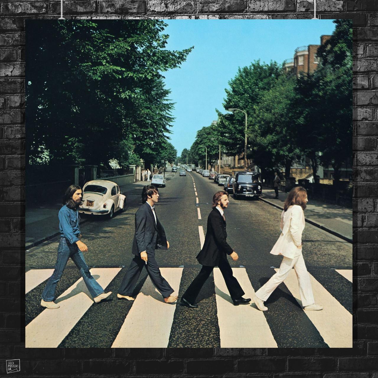 Постер The Beatles, Abbey Road, Битлз. Размер 60x60см (A1). Глянцевая бумага