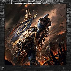 Постер Warhammer 40000. Размер 60x60см (A1). Глянцевая бумага