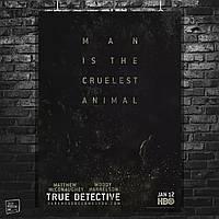 Постер Настоящий детектив, True Detective, сериал. Размер 60x42см (A2). Глянцевая бумага
