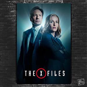 Постер X-Files, Секретные материалы. Размер 60x42см (A2). Глянцевая бумага
