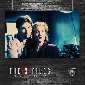 Постер X-Files, фото с кинопроб. Размер 60x42см (A2). Глянцевая бумага