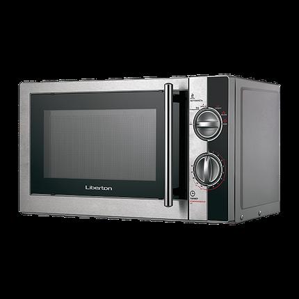 Микроволновая печь СОЛО LIBERTON LMW-2078 (сталь+черный+серебро), фото 2