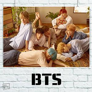 Постер Bangtan Boys, BTS, Beyond The Scene, k-pop. Размер 60x42см (A2). Глянцевая бумага