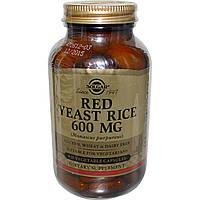 Красный дрожжевой рис, Solgar, 600 мг, 120 капсул