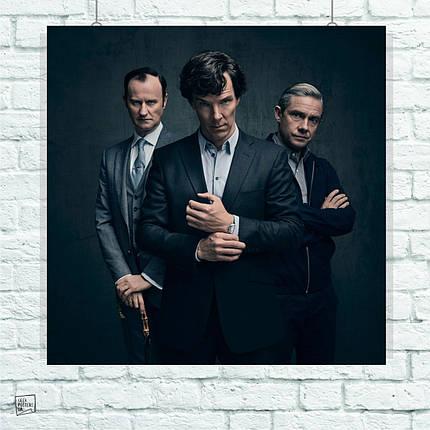 Постер Шерлок, Ватсон. Майкрофт, Sherlock. Размер 60x60см (A1). Глянцевая бумага, фото 2