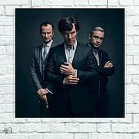 Постер Шерлок, Ватсон. Майкрофт, Sherlock. Размер 60x60см (A1). Глянцевая бумага
