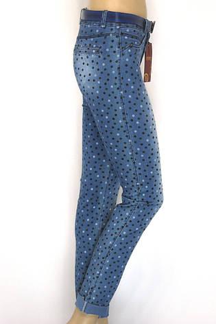 Жіночі літні джинси в горошок, фото 2
