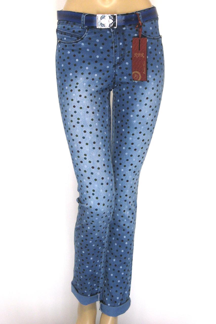 Жіночі літні джинси в горошок