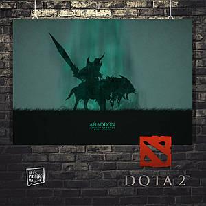 Постер Abaddon, Абаддон, Дота 2, Dota 2. Размер 60x42см (A2). Глянцевая бумага