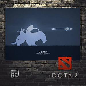 Постер Mirana, Мирана, Дота 2, Dota 2. Размер 60x42см (A2). Глянцевая бумага