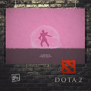 Постер Lanaya, Дота 2, Dota 2. Размер 60x42см (A2). Глянцевая бумага