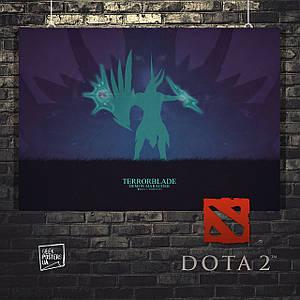Постер Terrorblade, Дота 2, Dota 2. Размер 60x42см (A2). Глянцевая бумага