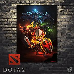 Постер Dragon Knight, Дота 2, Dota 2. Размер 60x42см (A2). Глянцевая бумага