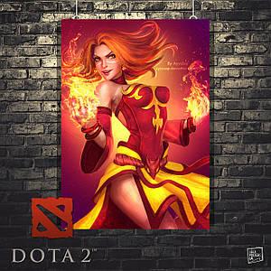 Постер Lina, Лина, Дота 2, Dota 2. Размер 60x45см (A2). Глянцевая бумага