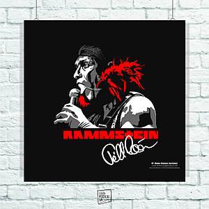 Постер Rammstein, арт. Размер 60x60см (A1). Глянцевая бумага