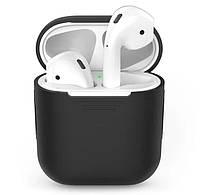 Силиконовый чехол для наушников Apple Airpods Черный