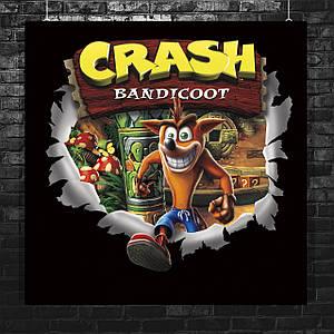 Постер Crash Bandicoot / Крэш Бандикут. Размер 60x60см (A1). Глянцевая бумага