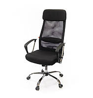 Кресло офисное на колесиках Гилмор FXСН TILT из ткани черного цвета