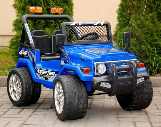 Детский электромобиль Jeep Raptot Drifter, 4kids,синий, фото 2