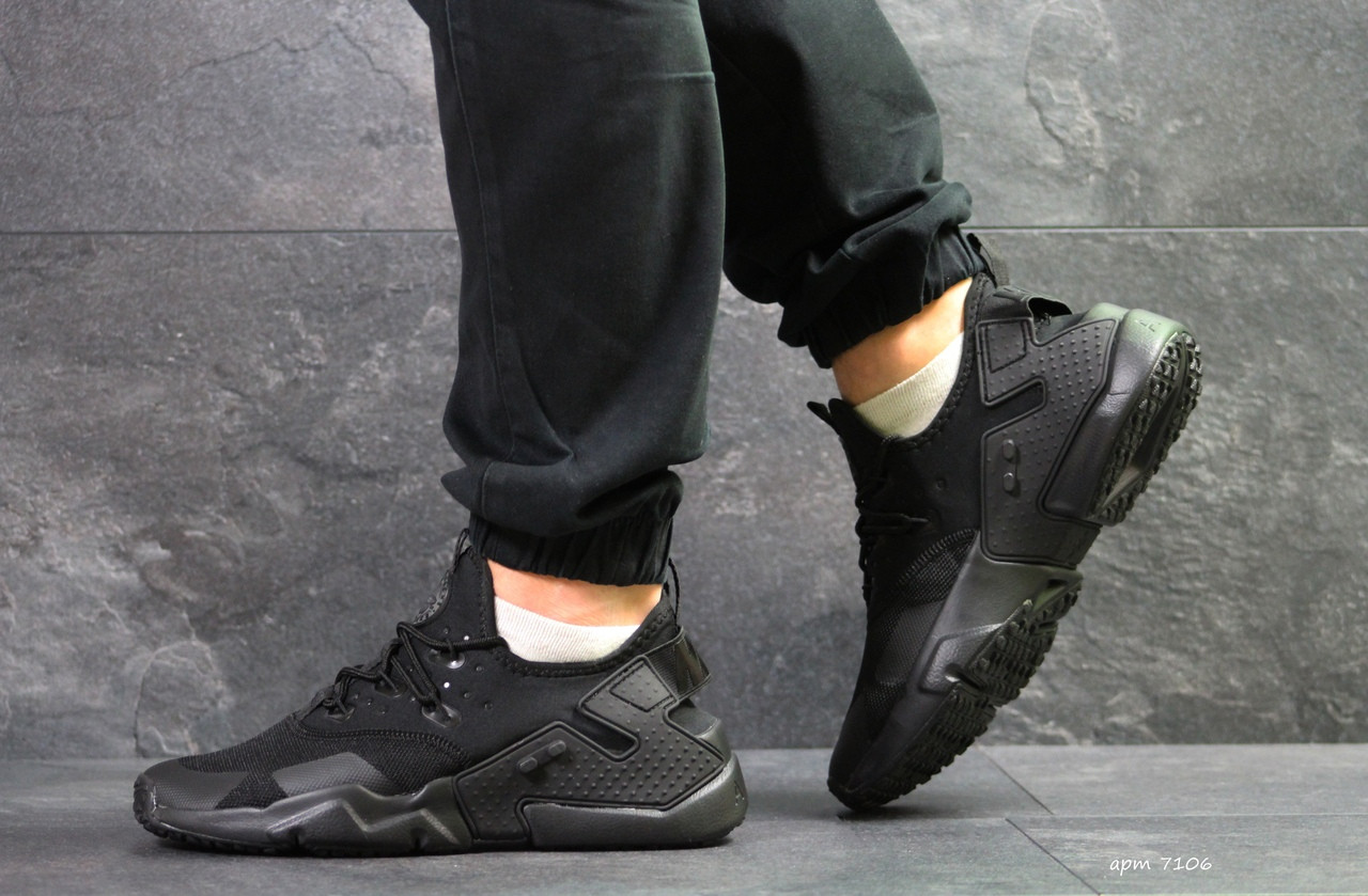 980bedd4f Мужские кроссовки Nike Air Huarache (реплика), черные (7106) - Rapideshop в